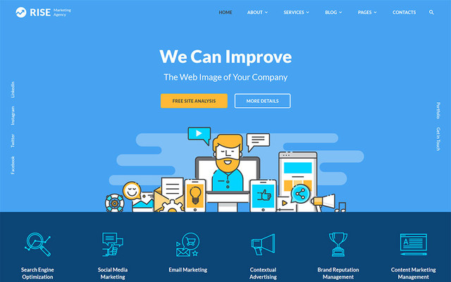 Rise -Marketing - SEO Website Template thumbnail