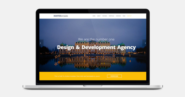 Nantes - One Page Multipurpose Bootstrap Template thumbnail
