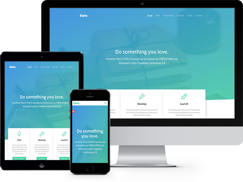 Elate One Page HTML5 Bootstrap template thumbnail