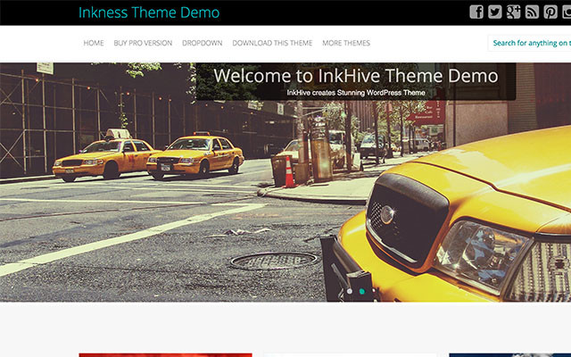 InkNess Bootstrap Theme thumbnail