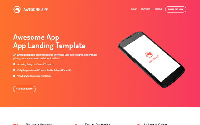 Awesome App Landing Page thumbnail