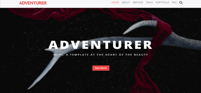 Adventurer - One Page Creative HTML5 Page Template thumbnail